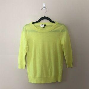 J. Crew Neon Lime Green Tippi Merino Wool Sweater